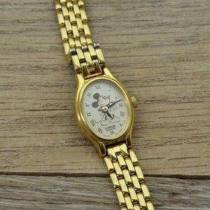 LORUS Disney 'Mickey Mouse' Goldtone Quartz Watch